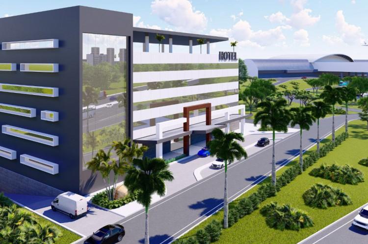 Simulação do empreendimento ao lado do Aeroporto de Fortaleza