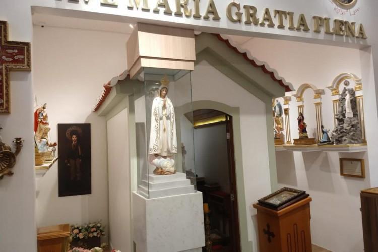 O local será dedicado exclusivamente a homenagear, guardar e se tornar um berço de veneração para fé católica (Foto: Divulgação Capela das Santas Relíquias)