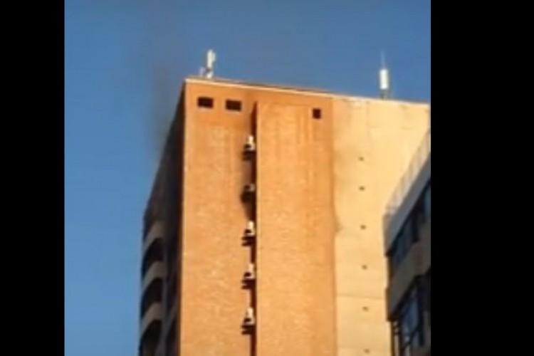 Incêndio em apartamento no Meireles (Foto: Reprodução/ YouTube)