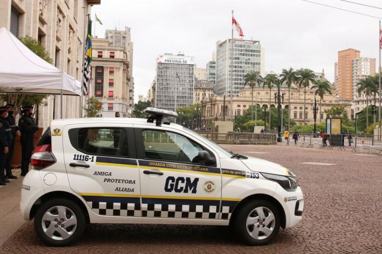 São Paulo - Base da Guarda Civil Metropolitana - GCM em frente a prefeitura, no Viaduto do Chá, região central. (Foto: Rovena Rosa/Agência Brasil)
