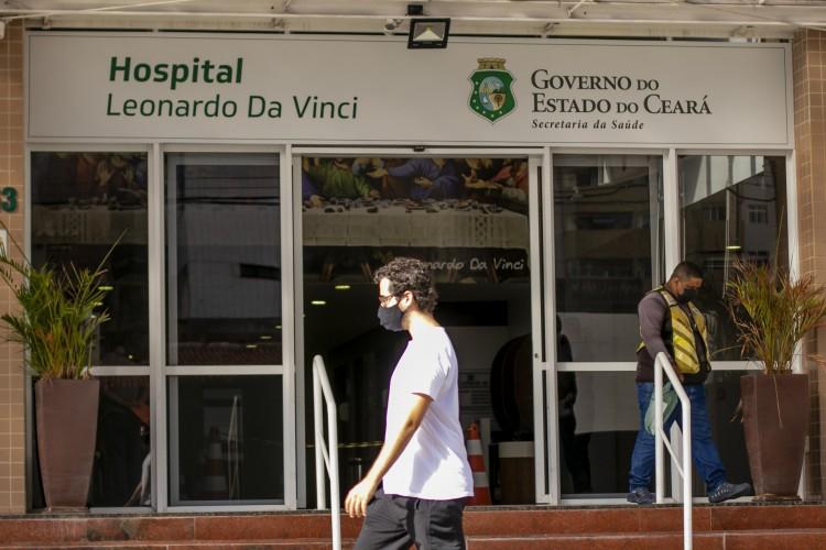 HOSPITAL Leonardo da Vinci, em Fortaleza é referência em tratamento de pacientes com Covid-19 no Estado (Foto: Aurelio Alves)