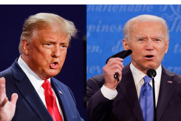 Debate final da campanha presidencial dos EUA para 2020 em Nashville (Foto: REUTERS//Mike Segar/Jonathan Ernst)