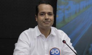 FORTALEZA, CE, BRASIL, 05.11.2020:  Debate com os  candidatos à prefeitura de Caucaia realizado pela Radio O POVO CBN - na foto Vitor Valim (Pros)  (Foto: Fco Fontenele/O POVO)