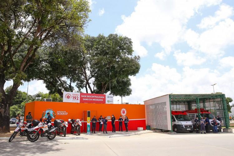 A nova base é a décima inaugurada pela Prefeitura de Fortaleza, que prevê entregar até o fim de 2020 mais quatro unidades em outros bairros.  (Foto: Thiago Gaspar/ Prefeitura de Fortaleza)
