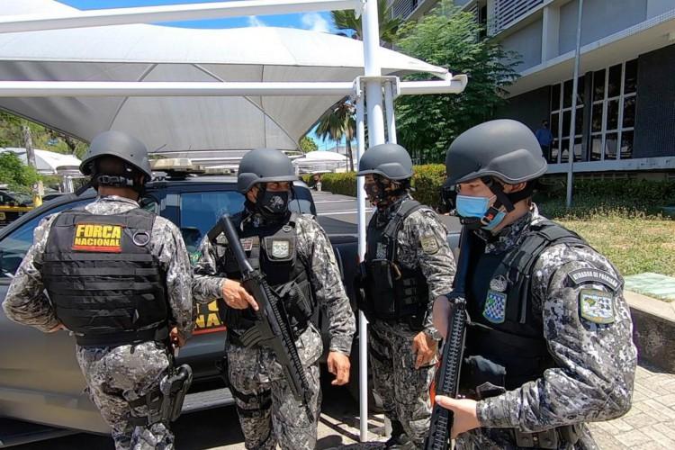 Força Nacional se apresenta para atuação das Eleições 2020 no Ceará (Foto: Fábio Lima)