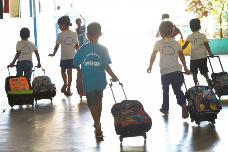 Crianças do Centro de Educação Infantil do Núcleo Bandeirante. (Foto: Elza Fiúza/Agência Brasil)