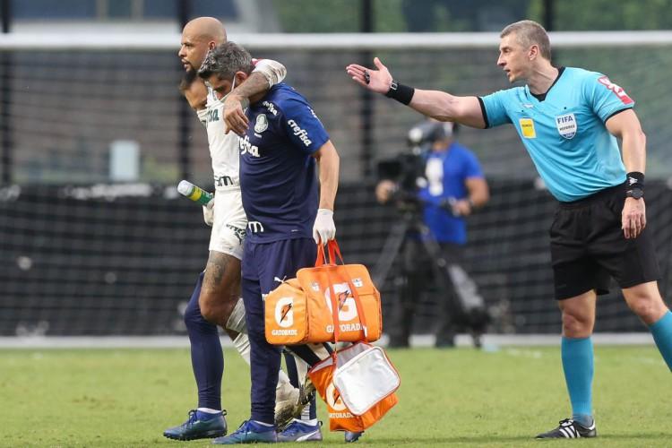 Felipe Melo se machucou neste fim de semana e deve desfalcar Palmeiras por quatro meses  (Foto: Cesar Greco/Palmeiras)