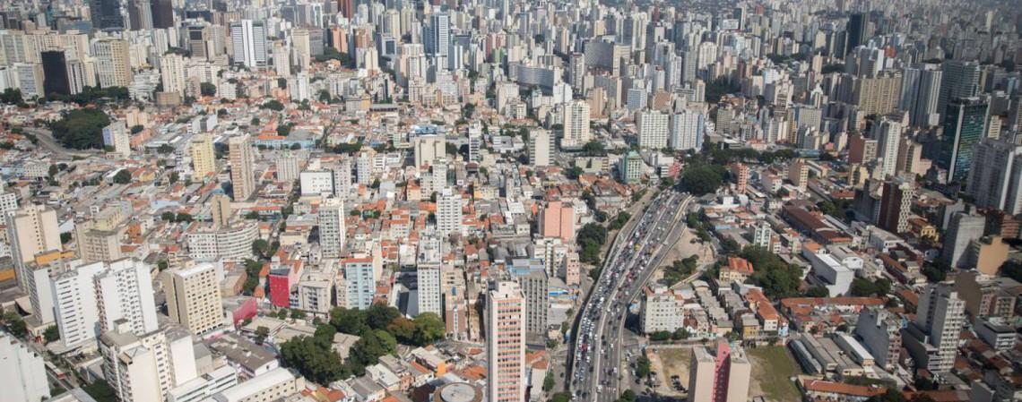Vista aerea da cidade de São Paulo, rio Tietê, predios, São Paulo, cidade (Foto: Diogo Moreira/MáquinaCW)