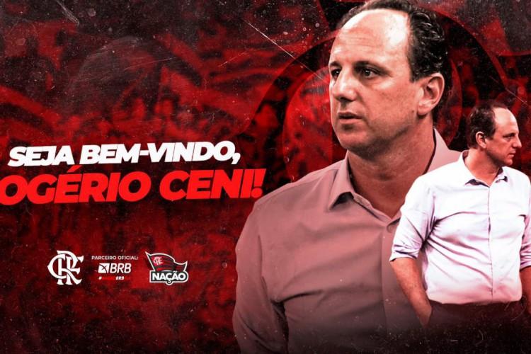Treinador assina contrato até fim de 2021  (Foto: Reprodução/Flamengo)