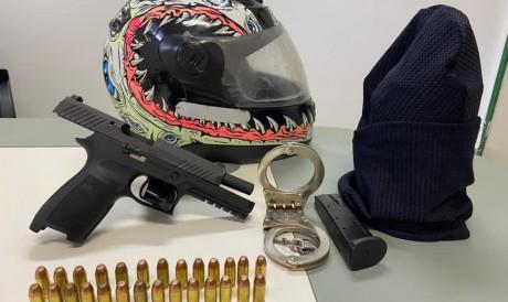 Policial militar foi preso em flagrante por sequestro e por disparo em via pública.