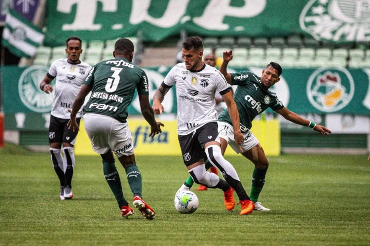 Palmeiras e Ceará se reencontram para o segundo jogo pelas quartas de final da Copa do Brasil (Foto: Felipe Santos/cearasc.com)