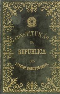 Capa da primeira Constituição republicana do Brasil, de 1891