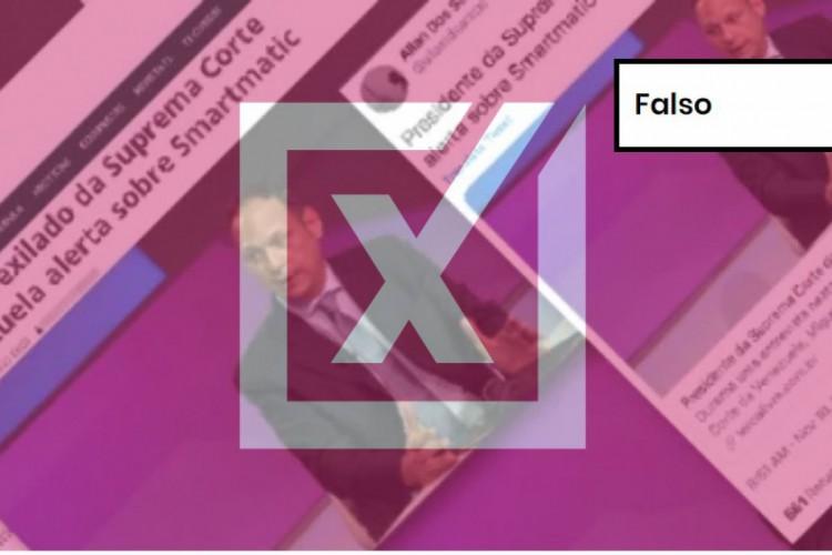 Post sugere que eleições no Brasil podem ser fraudadas por empresa que, no passado, forneceu urnas para a Venezuela (Foto: Reprodução)