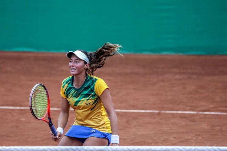 Tenista brasileira Luisa Stefani chega à final de duplas do WTA 1000 de Miami (Foto: DANILOBORGES)