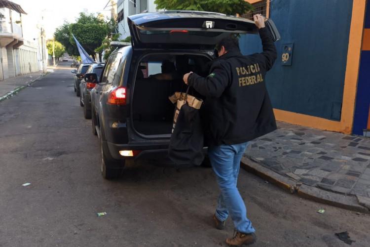 Os mandados  de busca e apreensão foram cumpridos na cidade do Crato, no Cariri. (Foto: Foto: Polícia Federal)