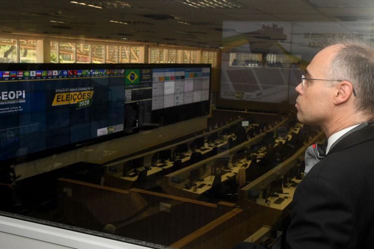 Visita técnica ao Centro Integrado de Comando e Controle Nacional - CICCN - Operações Eleições 2020/Foto:Isaac Amorim/MJSP (Foto: Isaac Amorim/MJSP)