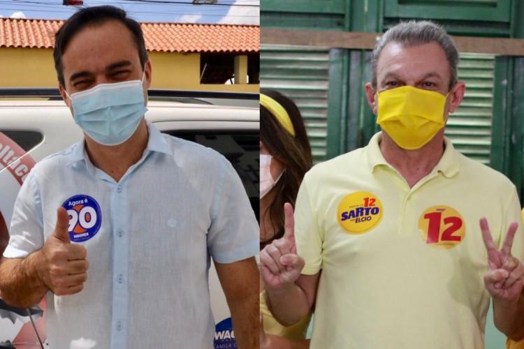 Capitão Wagner (Pros) e José Sarto (PDT) disputam o 2º turno da eleição para prefeito de Fortaleza (Foto: REPRODUÇÃO)