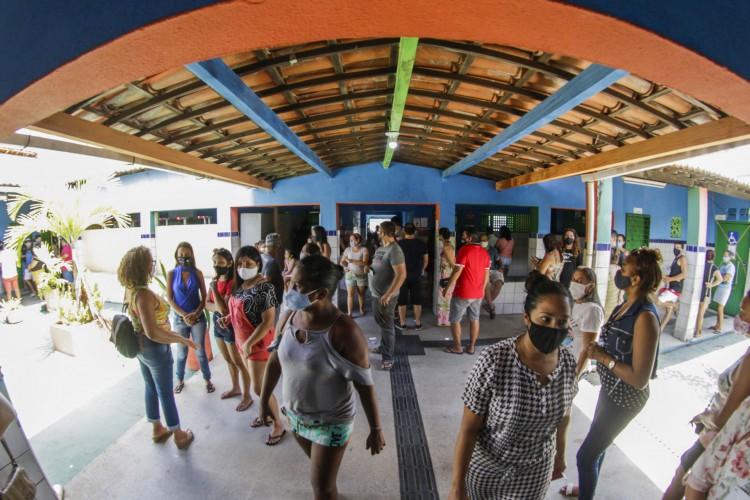 FORTALEZA- 15.11.2020: Eleições 2020 no Maracanau (THAIS MESQUITA/ O POVO) (Foto: Thais Mesquita)