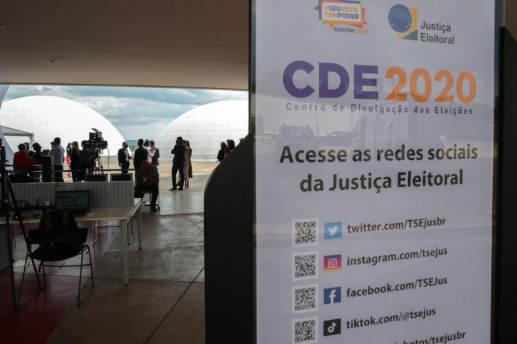 Centro de Divulgação das Eleições (CDE) 2020 (Foto: Marcello Casal JrAgência Brasil)