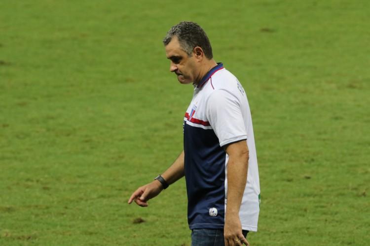 Chamusca comandou o Fortaleza no Castelão em três jogos desde que voltou e ainda não venceu em casa (Foto: FÁBIO LIMA/O POVO)