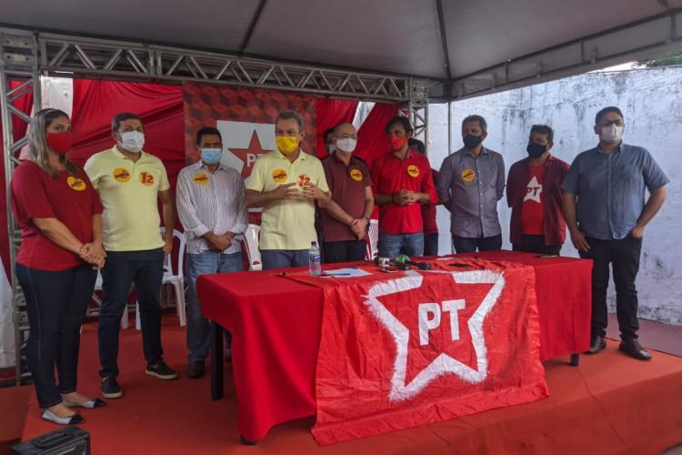 Sarto recebeu apoio de dirigentes do PT (Foto: CARLOS MAZZA/O POVO)