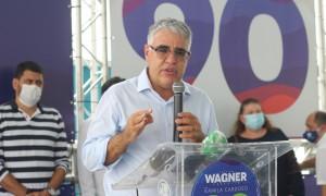 Coletiva com a coordenação de campanha do candidato Capitão Wagner (Pros). Na foto: senador Luis Eduardo Girão