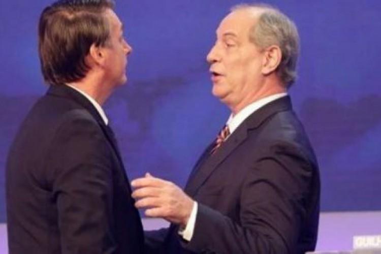 Bolsonaro e Ciro devem ser adversários nas eleições de 2022 (Foto: reprodução de TV)