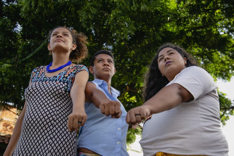 Adriana Gerônimo, Louise Anne de Santana e Lila M. Salu formam trio eleito Nossa CAra, com 9.824 votos, para ocupar uma das 43 cadeiras da Câmara Municipal. (Foto: Aurelio Alves)