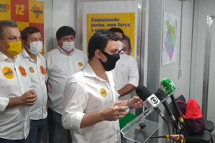 Célio Studart declara apoio a Sarto no segundo turno da eleição 2020 em Fortaleza (Foto: CARLOS MAZZA/O POVO)