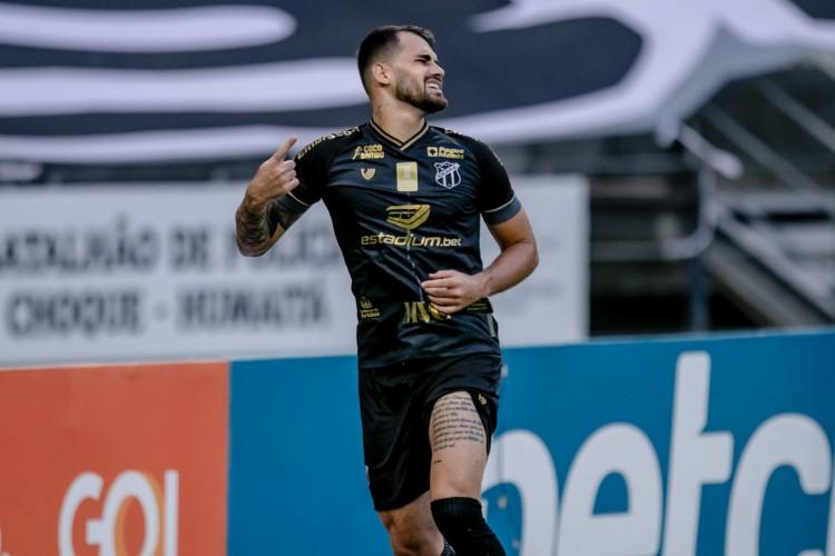 Vizeu marcou contra o Atlético-MG e sofreu lesão na coxa esquerda (Foto: Aurelio Alves)