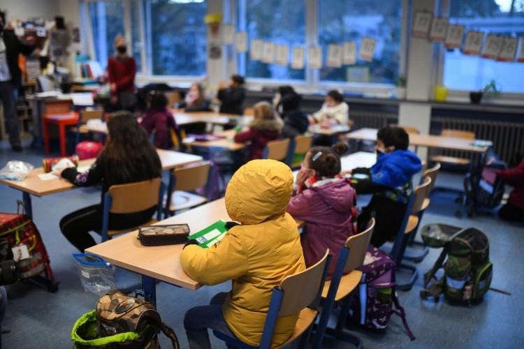 Escola primária de Petri em Dortmund, oeste da Alemanha, em 24 de novembro de 2020, em meio à nova pandemia de coronavírus (Foto: AFP)