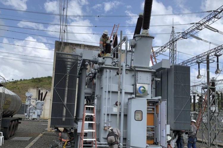 o Ministro de Minas e Energia, Bento Albuquerque, realizou uma visita técnica à subestação de Laranjal do Jari, no interior do Amapá, da empresa Linhas Macapá de Transporte e Energia, a fim de acompanhar as ações de restabelecimento total da energia no estado. (Foto: Divulgação/Ministério de Minas e energia)