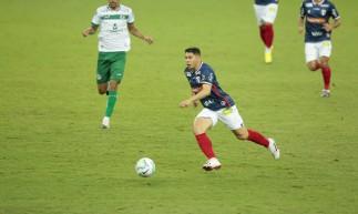 Osvaldo, atacante do Fortaleza, em partida contra Goiás pelo Campeonato Brasileiro de 2020, 23ª rodada