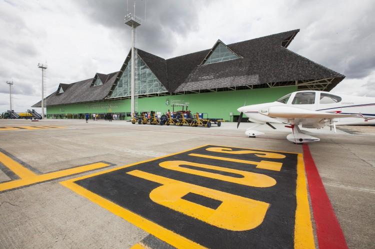 Pista do aeroporto de Jericoacoara(Foto: Divulgação/Governo do Estado/Carlos Gibaja)