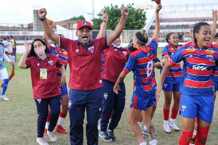 Fortaleza foi até as quartas de final do Brasileirão Feminino A-2 em 2020 (Foto: Samuel Andrade/Fortaleza EC)