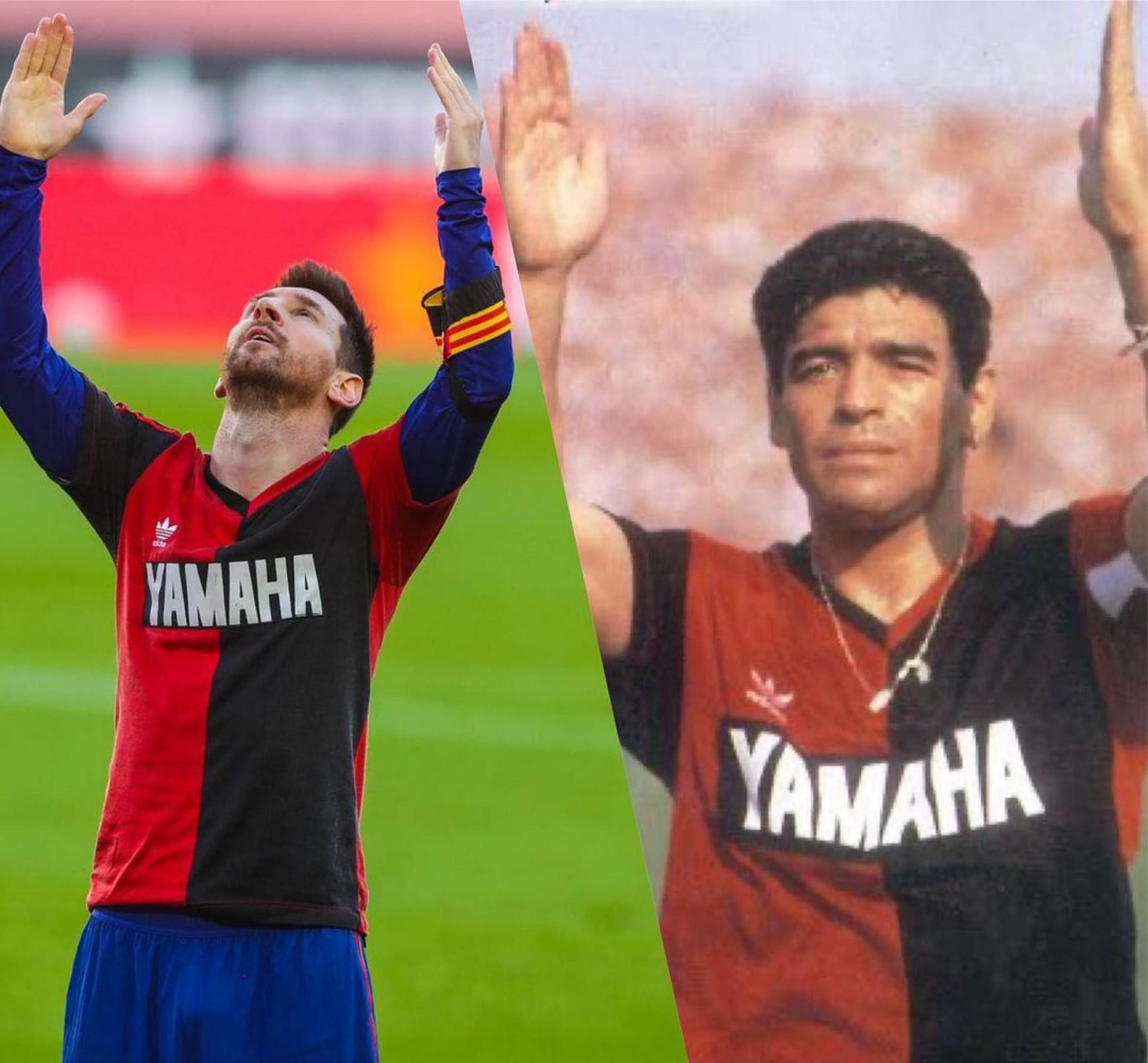 Messi fez homenagem a Maradona após gol pelo Barcelona
