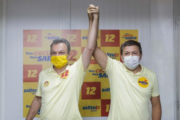 Sarto e seu vice, Élcio Batista, são citados na representação do MP-CE (Foto: FCO FONTENELE)