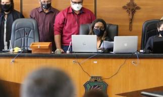 Julgamento de Marcelo Barberena acontece na Câmara Municipal de Paracuru.