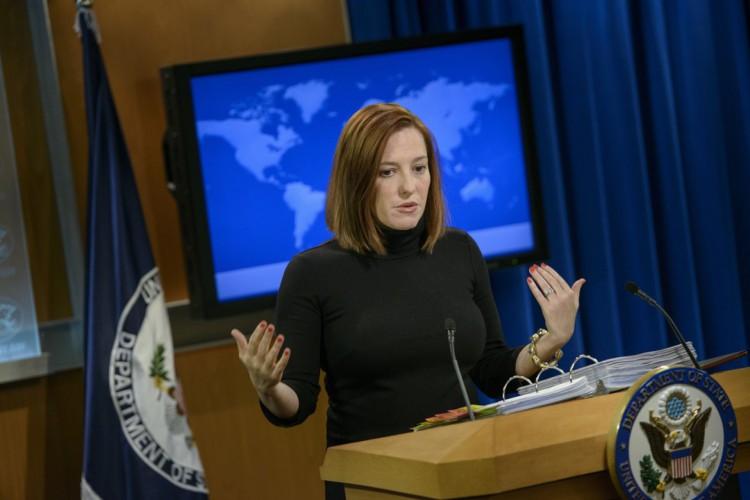 Jen Psaki, porta-voz da Casa Branca   (Foto: Brendan Smialowski/AFP)