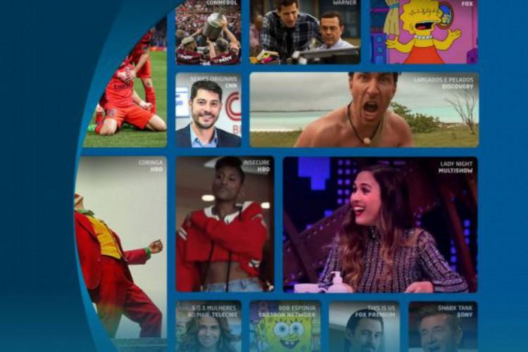 O pacote inicial da DirecTV Go, que tem preço por R$ 59,90, conta com canais Globo, Telecine, CNN Brasil, Multishow, History, Cartoon Network e vários outros  (Foto: Reprodução/ DirecTV Go)