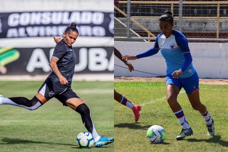 Ceará e Fortaleza podem alcançar o acesso para a Série A-1 caso passem para a semifinal do Brasileirão A-2 (Foto: Thais Pontes/ Fortaleza EC e Pedro Chaves/ Ceará SC)