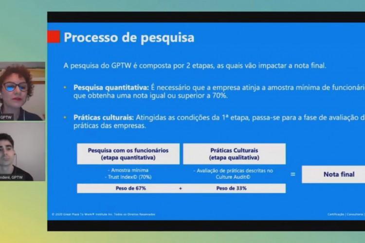 Live de apresentação das Melhores Empresas para Trabalhar no Ceará 2020 (Foto: Reprodução da internet)