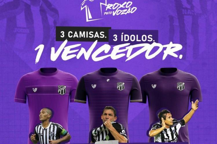 Modelo em alusão a Mota foi o mais votado na campanha do Ceará para escolher o quarto uniforme (Foto: REPRODUÇÃO)