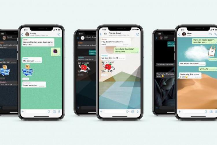Nova ferramenta permite escolher wallpaper de acordo com o chat ou com o modo noturno/diurno do celular (Foto: Reprodução/WhatsApp)
