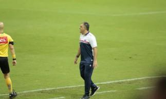 Técnico Marcelo Chamusca definiu escalação do Fortaleza para jogo de hoje contra o Corinthians, válido pelo Brasileirão