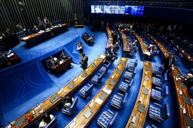 SENADO em votação do Fundeb (Foto: Marcelo Camargo/Agência Brasil)