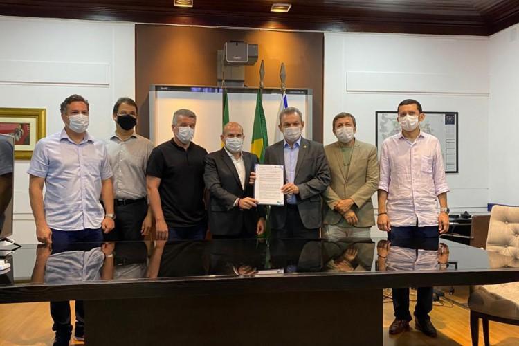 Equipe de transição entre as gestões Roberto Cláudio e Sarto (Foto: DIVULGAÇÃO/PREFEITURA DE FORTALEZA)