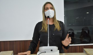 Fortaleza em 02 de dezembro de 2020, Sessão ordinária na câmara municipal de Fortaleza, em destaque a Vereadora Larissa Gaspar (PT). (Foto: Érika Fonseca/CMFor)