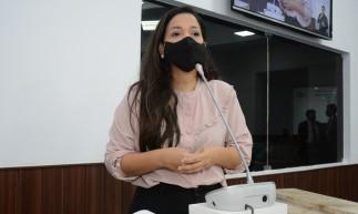 Fortaleza em 02 de dezembro de 2020, Sessão ordinária na câmara municipal de Fortaleza, em destaque a Vereadora Priscila Costa (PSC). (Foto: Érika Fonseca/CMFor)