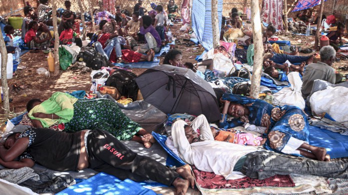 Refugiados etíopes no Sudão, principalmente da região de Tigray. Até o momento, pelo menos 43 mil se refugiaram no país vizinho
